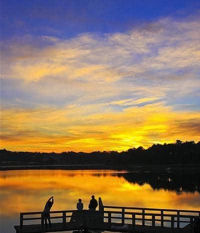 Sunset at Xuan Huong Lake 1